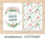 save the date wedding... | Shutterstock .eps vector #273751007