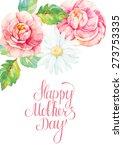 congratulation card for mother... | Shutterstock .eps vector #273753335