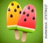 watermelon juicy ice cream ... | Shutterstock .eps vector #273758117