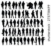 people set vector black... | Shutterstock .eps vector #273758699