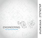 engineering background with... | Shutterstock .eps vector #273760769