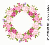invitation card with floral... | Shutterstock .eps vector #273761327