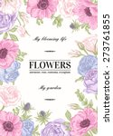 floral vector background with... | Shutterstock .eps vector #273761855
