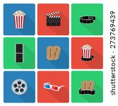 flat cinema icons with long... | Shutterstock .eps vector #273769439