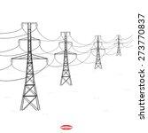 abstract black white silhouette ... | Shutterstock .eps vector #273770837
