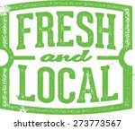 fresh   local market stamp | Shutterstock .eps vector #273773567