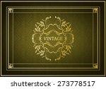 vintage floral frame | Shutterstock .eps vector #273778517