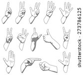 different hands gestures | Shutterstock .eps vector #273786125