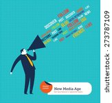 businessman with megaphone... | Shutterstock .eps vector #273787109