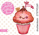 sweet cupcake for your design. ... | Shutterstock .eps vector #273795269
