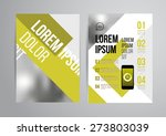 vector design brochure template ... | Shutterstock .eps vector #273803039
