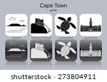 landmarks of cape town. set of... | Shutterstock .eps vector #273804911