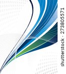 blue vector swoosh. abstract... | Shutterstock .eps vector #273805571