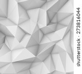 white abstract low poly ... | Shutterstock .eps vector #273816044