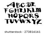 abc alphabet hand drawn... | Shutterstock . vector #273816161