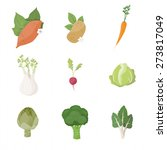 garden fresh vegetables set on... | Shutterstock .eps vector #273817049