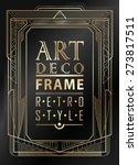 art deco geometric vintage... | Shutterstock .eps vector #273817511