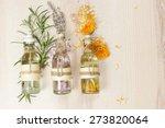 aromatherapy massage oils. row... | Shutterstock . vector #273820064
