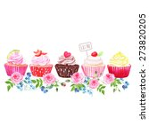 Colorful Cupcakes With Flowers...