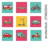vector hand drawn set of icons... | Shutterstock .eps vector #273822041