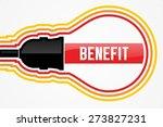 benefit word in lightbulb... | Shutterstock . vector #273827231
