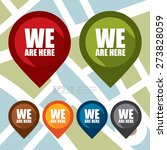vector   we are here map... | Shutterstock .eps vector #273828059