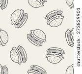 doodle hamburger seamless... | Shutterstock .eps vector #273829901