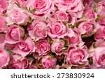 Stock photo pink rose bouquet 273830924