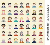 people diversity portrait... | Shutterstock .eps vector #273833279