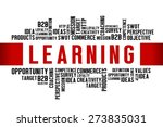 learning word with business... | Shutterstock . vector #273835031