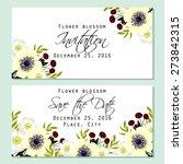 flower blossom. romantic... | Shutterstock .eps vector #273842315