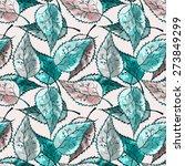 leaves seamless pattern | Shutterstock . vector #273849299