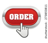 red order button with metallic... | Shutterstock .eps vector #273853811