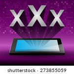 xxx icon on tablet monitor ... | Shutterstock .eps vector #273855059