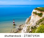 White Cliffs And Lighthouse....
