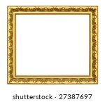 old antique gold frame over... | Shutterstock . vector #27387697