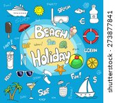 colorful fun set of hand drawn... | Shutterstock .eps vector #273877841