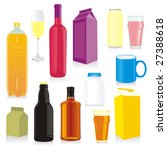 isolated drink containers | Shutterstock .eps vector #27388618