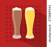 beer icon in modern flat design ...