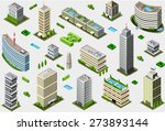 isometric building city palace... | Shutterstock . vector #273893144