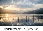 Sunset At Fewa Lake  Pokhara ...