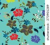 vector seamples pattern flower    Shutterstock .eps vector #273901289