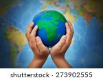 ecology concept with earth... | Shutterstock . vector #273902555