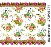 batik pattern. art design... | Shutterstock .eps vector #273908774