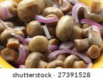 pickled mushrooms with onion...
