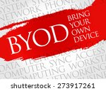 byod acronym word cloud concept | Shutterstock .eps vector #273917261