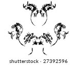 beauty black graphic design... | Shutterstock . vector #27392596