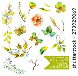 Watercolor Flowers Collection...