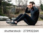 a shot of an athlete doing sit... | Shutterstock . vector #273932264