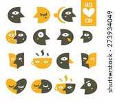 icons face big set | Shutterstock .eps vector #273934049
